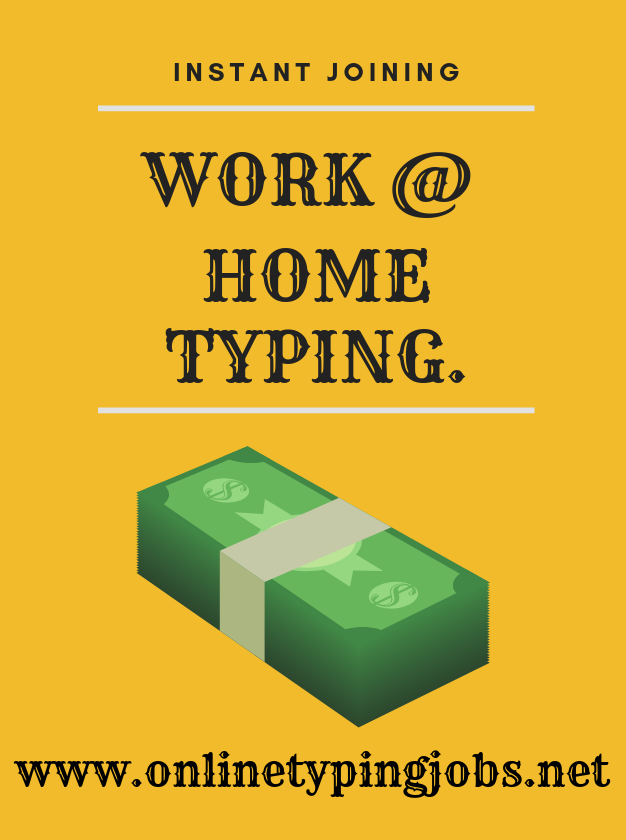 Work At Home Typing Without Investment | Online Captcha Typing Jobs